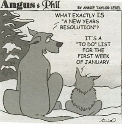 New Year Resolution Dogs